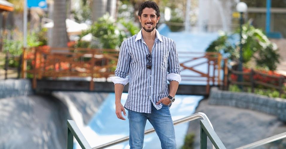 """O apresentador Marcos Mion durante as gravações da segunda fase do """"Ídolos 2012"""", que aconteceram em um resort no interior de São Paulo. A nova etapa começa a ser exibida nesta terça-feira (9/10/12)"""