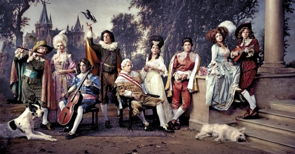 "Foto do elenco de ""Arrested Development"" reunido na 4ª temporada (out/12)"