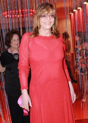 """A autora Glória Perez na festa de estreia da novela """"Salve Jorge"""""""