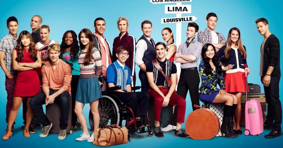 """Elenco de """"Glee"""" em foto promocional da quarta temporada da série, que estreia no dia 14 de novembro na Fox, às 22h15."""