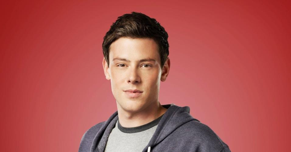 """O personagem Finn (Corey Monteith) em cartaz da quarto ano de """"Glee"""""""