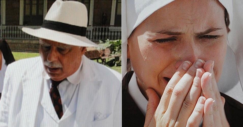 """Em """"Gabriela"""", Ramiro descobre que Gerusa está grávida e rejeita o bisneto (17/10/2012)"""