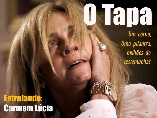 O meme faz referência a cena em que Carminha (Adriana Esteves) leva três tapas no rosto, após assumir que era amante de Max (Marcello Novaes). Os agressores são:Tufão (Murilo Benício), Muricy (Eliane Giardini) e Monalisa (Heloisa Pérrise)