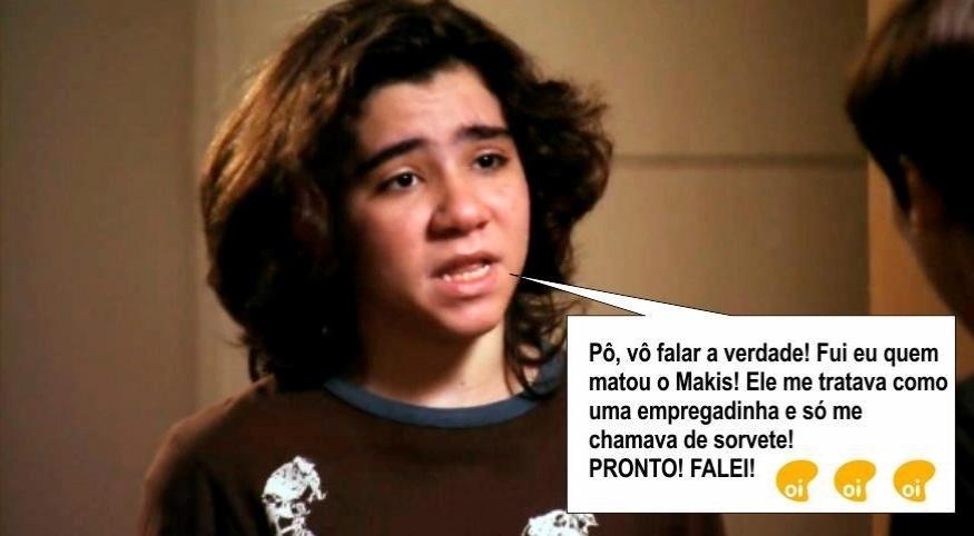 O meme faz referência a cena em que Picolé (João Fernandes) conta para Nina (Débora Falabella) que Nilo (José de Abreu) surtou após Lucinda (Vera Holtz) ser presa
