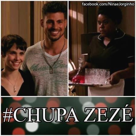 """O meme faz referência a implicância que Zezé (Cacau Protásio) tinha com Nina (Débora Falabella - à esq.) em """"Avenida Brasil"""""""