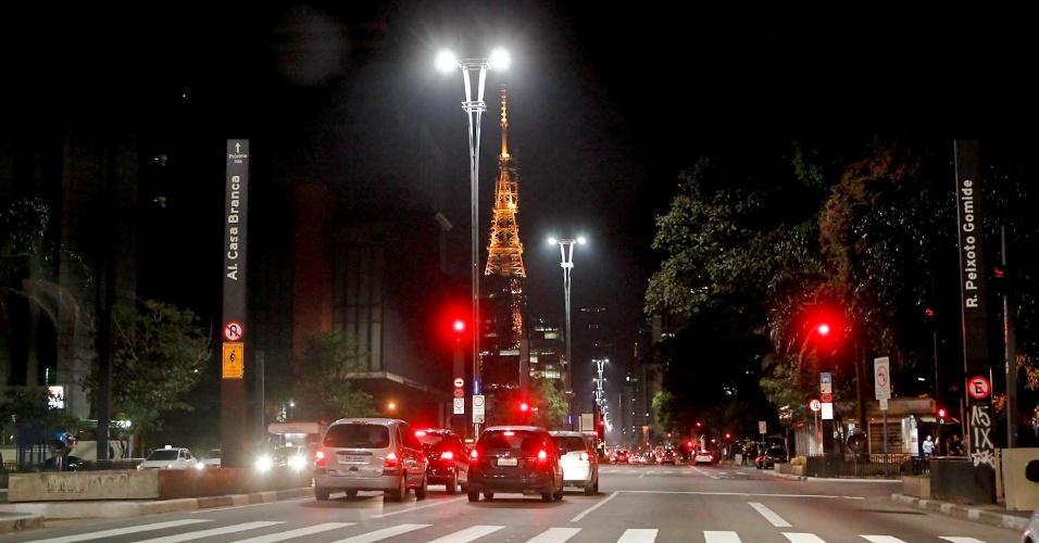 "Avenida Paulista com pouco movimento durante o capítulo final de ""Avenida Brasil"" (19/10/12)"