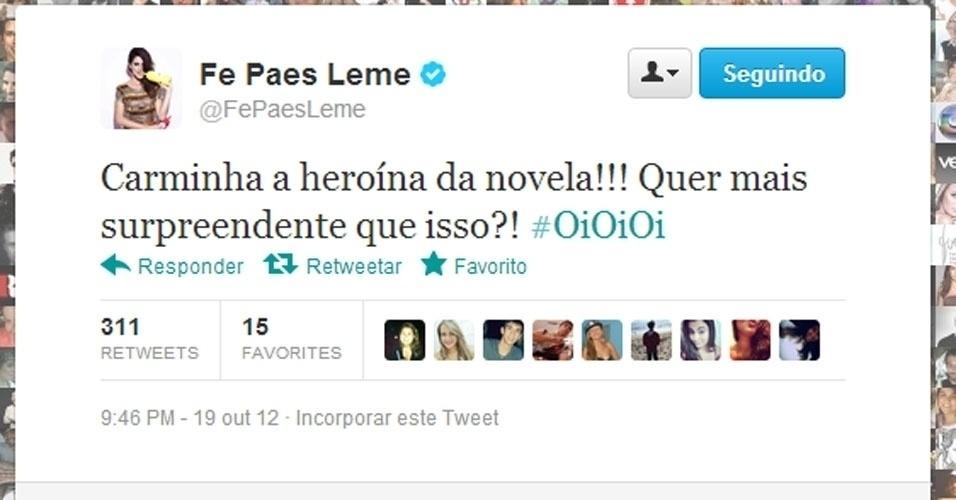 Twitter Fernanda Paes Leme