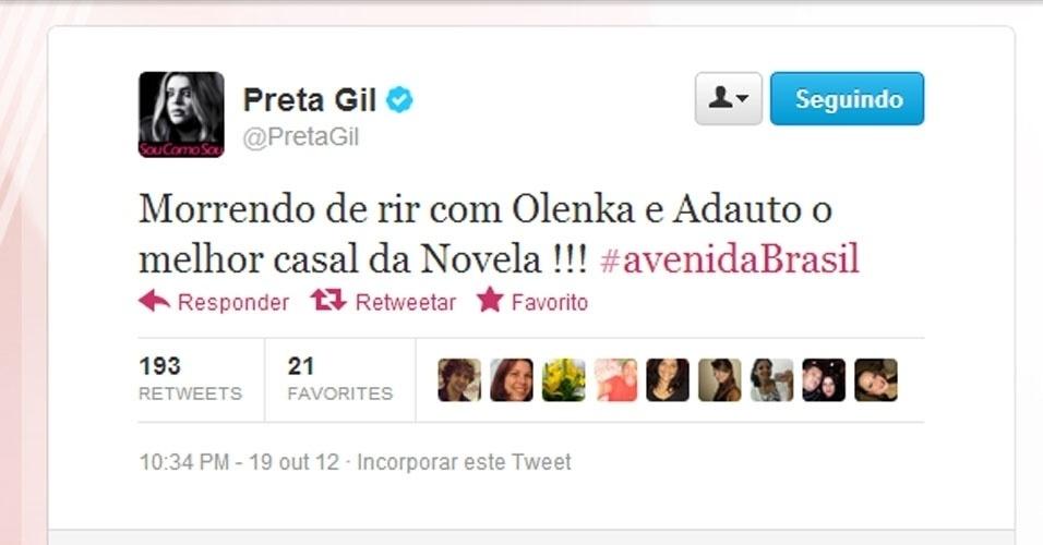 Twitter Preta Gil