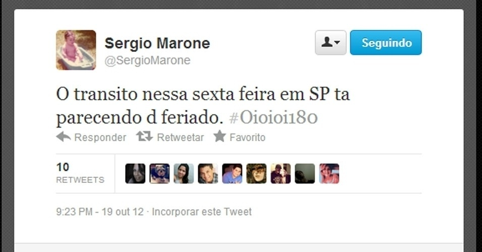 Twitter Sérgio Marone
