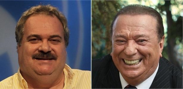 Os apresentadores Gilberto Barros e Raul Gil