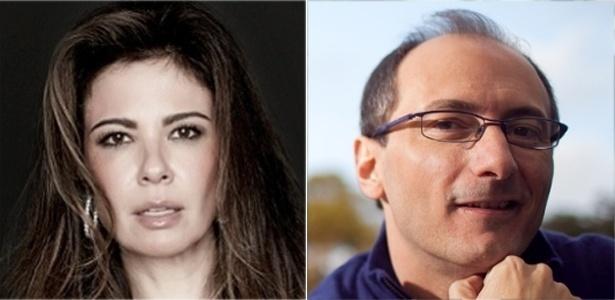 Os apresentadores Luciana Gimenez e Britto Jr