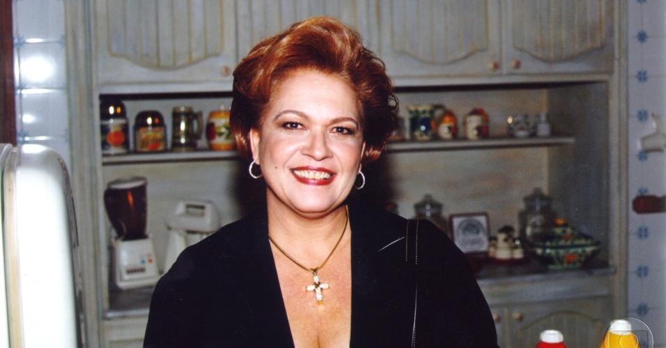 """Regina Dourado na pele da personagem Ieda de """"Andando Nas Nuvens"""", da Globo (1999)"""