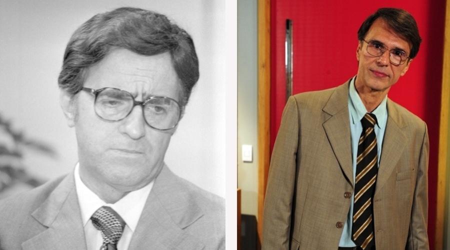 """Na novela """"Guerra dos Sexos"""", exibida em 1983 na Globo, o papel de Dinorá era interpretado por Ary Fontoura. No remake o personagem é vivido por Fernando Eiras"""