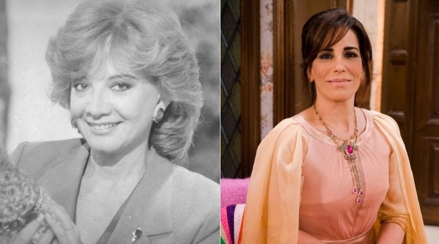 """Na novela """"Guerra dos Sexos"""", exibida em 1983 na Globo,  Roberta era interpretada por Glória Menezes. No remake a personagem é vivida por Gloria Pires"""