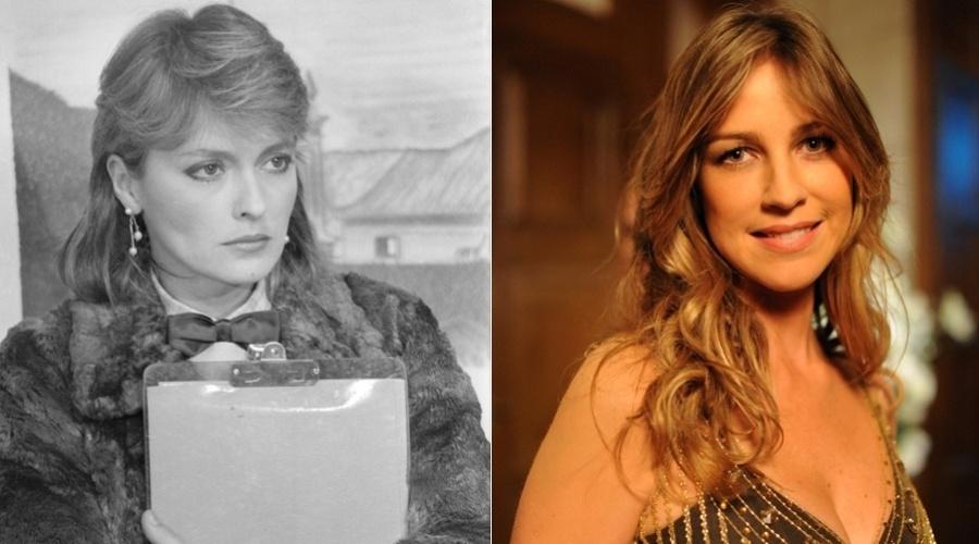 """Na novela """"Guerra dos Sexos"""", exibida em 1983 na Globo,  Vânia era interpretada por Maria Zilda. No remake a personagem é vivida por Luana Piovani"""
