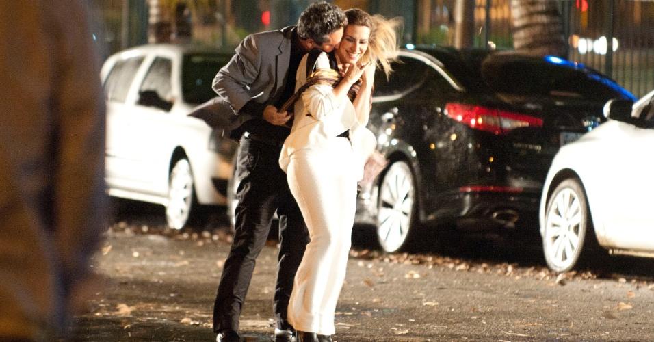"""Alexandre Nero e Cléo Pires gravam cena de """"Salve Jorge"""" (1/11/12)"""