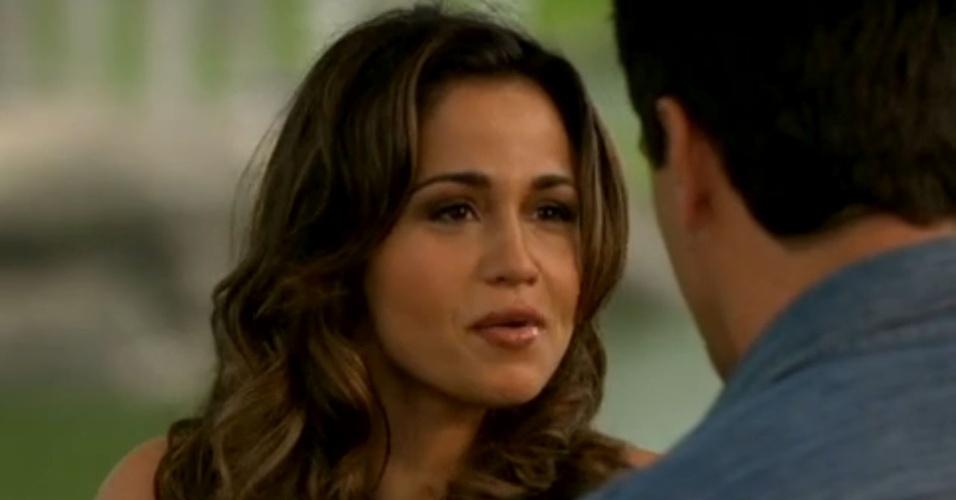 """Em """"Salve Jorge"""", Morena aconselha Théo a resolver problemas com Érica"""