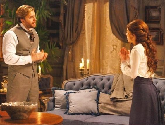 """Em """"Lado a Lado"""", Edgar pede mais uma chance a Laura"""