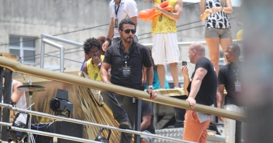 """Isis Valverde e Marcos Palmeira gravaram cenas da série """"O Canto da Sereia"""", da Rede Globo, na Praça Castro Alves, em Salvador (4/11/2012)"""