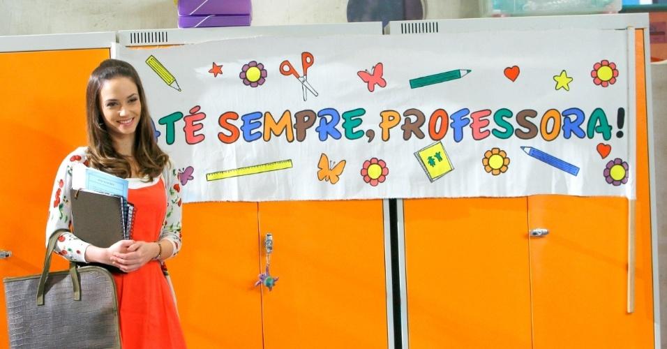 """Em """"Carrossel"""", professora Helena se emociona ao se despedir dos alunos (6/11/12)"""