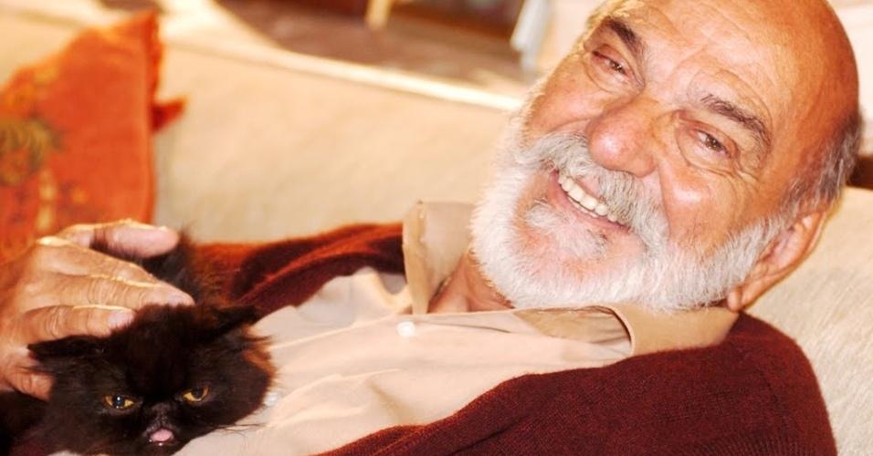 """Em ?Belíssima"""" (2005/2006), Mustafá era um gato misterioso e de olhar penetrante. Ele pertencia ao turco Murat (Lima Duarte)"""