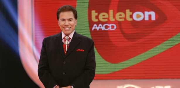 """Silvio Santos no """"Teleton"""" 2012, campanha promovida pelo SBT em prol da AACD"""