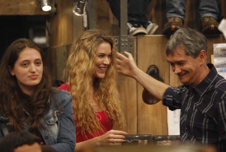 """A cantora Joss Stone participa do programa """"Altas Horas"""", é entrevistada por Serginho Groisman e canta seus sucessos (12/11/12)"""