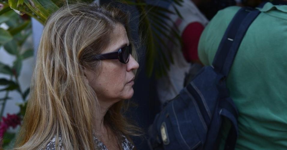 Tássia Camargo chega ao velório de Marcos Paulo, no Memorial do Carmo, no Rio de Janeiro (12/11/12)