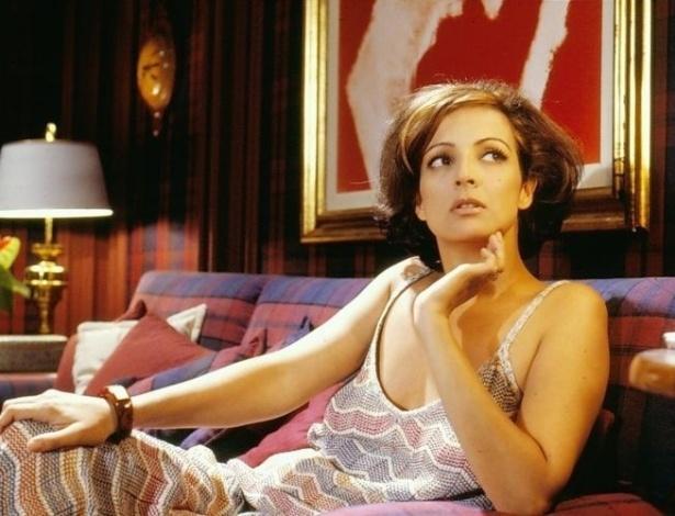 """A atriz Betty Lago na pele da personagem Natália, de """"Anos Rebeldes"""". A minissérie foi exibida em 1992 na Globo (1992)"""
