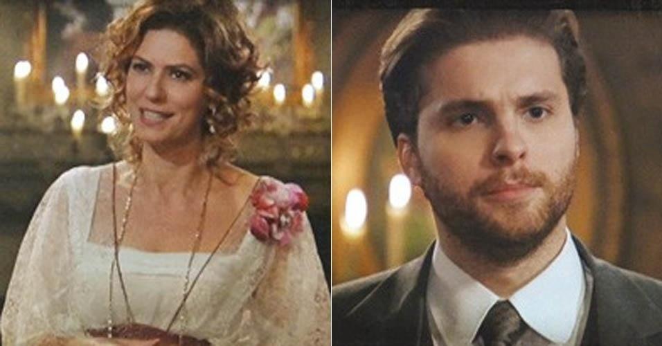 Em ?Lado a Lado?, por pouco Edgar não revela a Constância que Laura voltou para a cidade (16/11/2012)