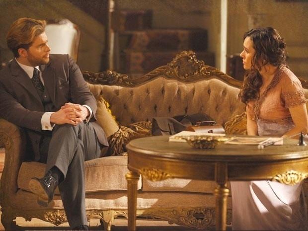"""Em """"Lado a Lado"""", Catarina coloca Edgar contra Laura e a acusa de ciúmes doentio (26/11/12)"""