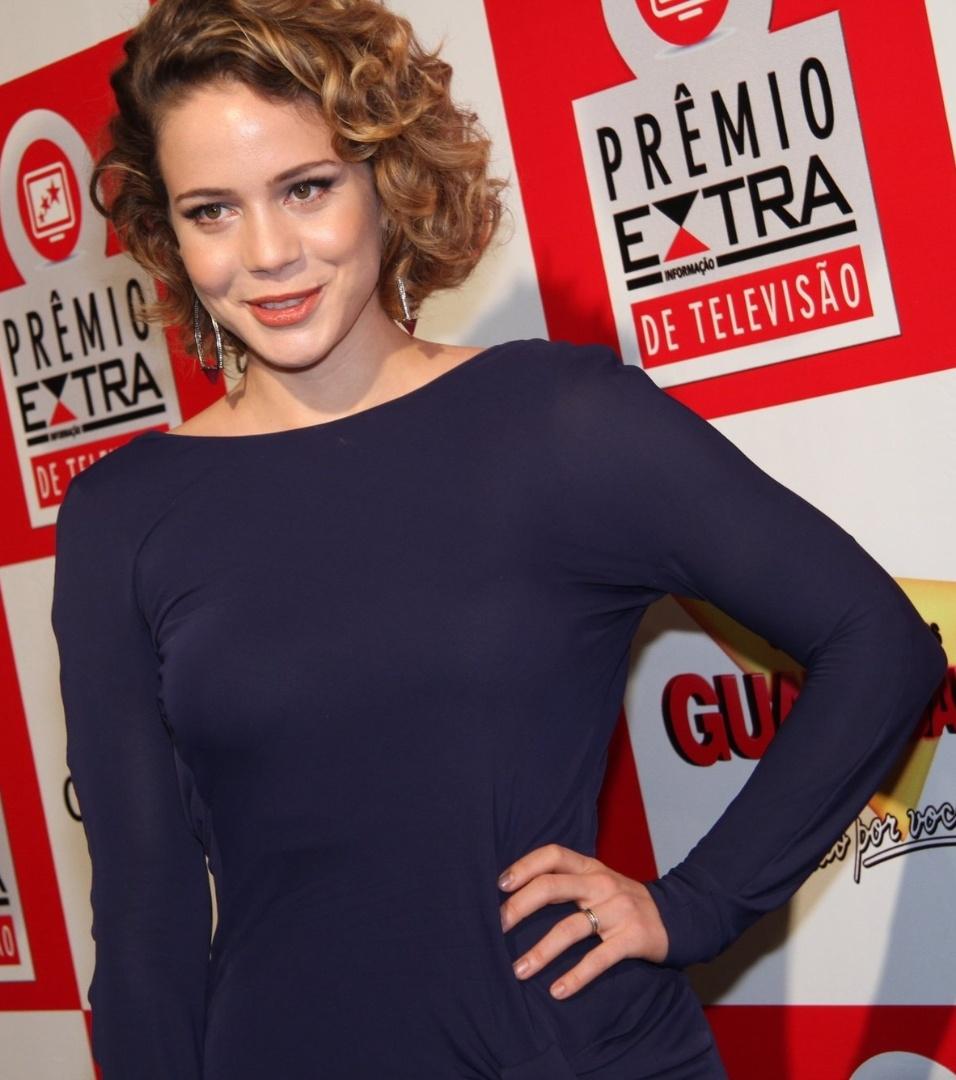 """Leandra Leal, uma das protagonistas de """"Cheias de Charme"""", participa do Prêmio Extra de Televisão 27.nov.2012"""