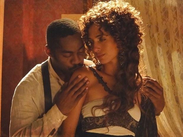 """Em """"Lado a Lado"""", Zé Maria e Isabel têm primeira noite de amor (28/11/12)"""