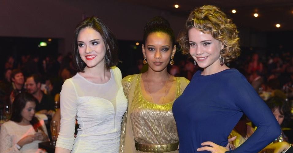 Isabelle Drummond, Taís Araújo e Leandra Leal no Prêmio Extra de Televisão, no Rio de Janeiro 27.nov.2012