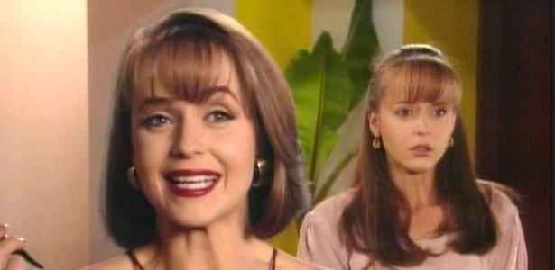 Gabriela Spanic como Paola Bracho (à esq.) e como Paulina Martinez (à dir.)