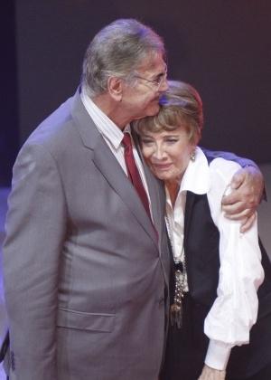 O casal de atores Tarcísio Meira e Glória Menezes