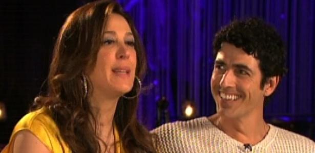 2.dez.2012 - Claudia Raia e Reynaldo Gianecchini dão entrevista ao