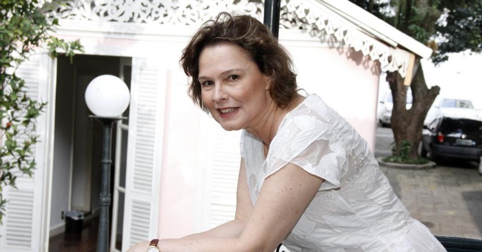 """3.dez.2012 - Louise Cardoso participou da coletiva de """"Doce de Mãe"""", especial de final de ano da Rede Globo, que aconteceu no Rio"""