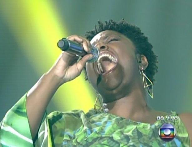 """Ellen Oléria canta ?Jacksoul Brasileiro?, de Lenine, na sexta semifinal do """"The Voice Brasil"""" (9/12/12)"""