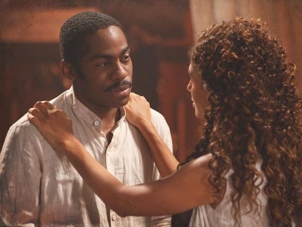 """Em """"Lado a Lado"""", Zé Maria afirma que gostaria de casar com Isabel e a dançarina fica surpresa (10/12/12)"""