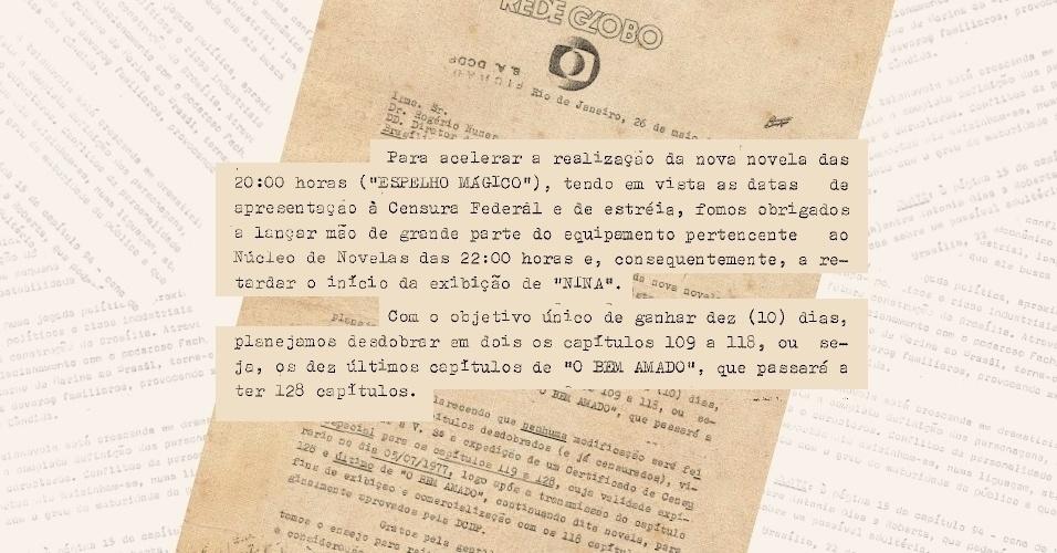 """Após """"O Bem Amado"""" ser encurtada pela censura, Globo teve de duplicar os dez últimos capítulos para ter tempo de produzir sua substituta"""