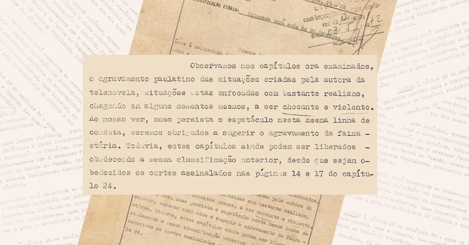 """Censores ameaçam reclassificar """"Selva de Pedra"""" (1972) para as 22h por considerar seu conteúdo """"chocante e violento"""""""