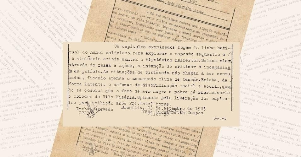 """Censores liberam cena da versão de 1985 da novela """"Roque Santeiro"""" a despeito de seu teor crítico em relação à polícia e ao racismo latente na sociedade"""