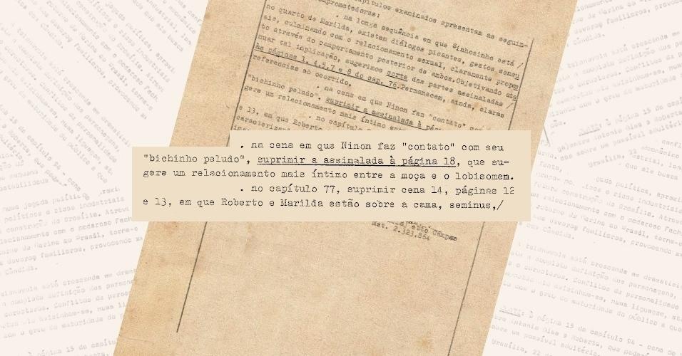 """Censores pedem corte de diálogo que sugere relação sexual da personagem Ninon (Claudia Raia) com o lobisomem da versão de 1985 da novela """"Roque Santeiro"""""""