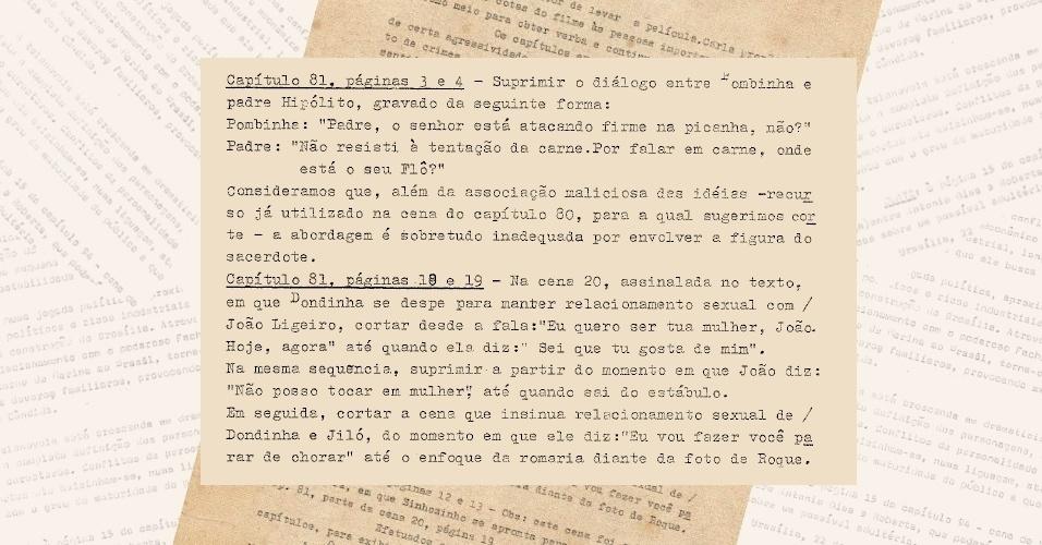 """Censores pedem corte de diálogos de duplo sentido entre os personagens Pombinha (Eloísa Mafalda) e padre Hipólito (Paulo Gracindo) da versão de 1985 da novela """"Roque Santeiro"""""""