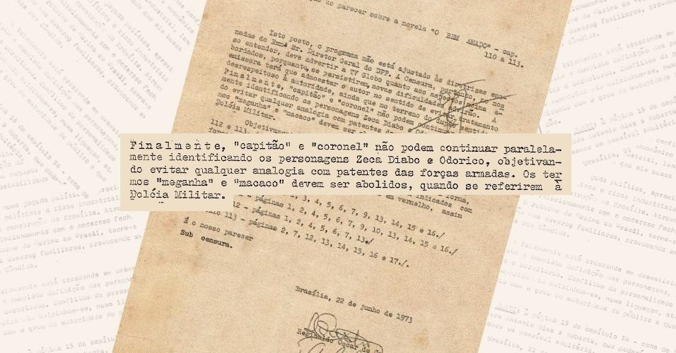 """Censores vetam o uso das patentes """"coronel"""" e """"capitão"""" para os personagens Odorico (Paulo Gracindo) e Zeca Diabo (Lima Duarte) na novela """"O Bem Amado"""""""