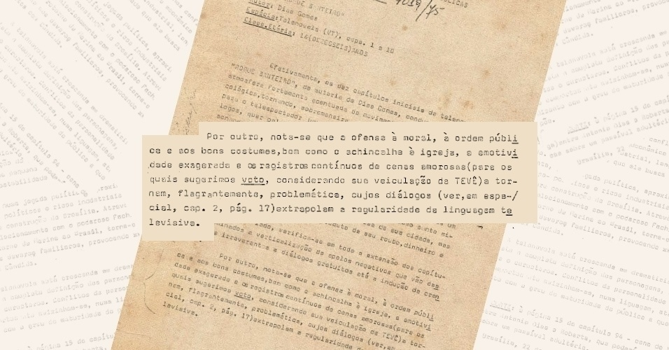 """DCDP sugere o veto à exibição de """"Roque Santeiro"""" em 1975 por """"achincalhar a igreja"""", entre outros aspectos """"negativos"""" da trama"""