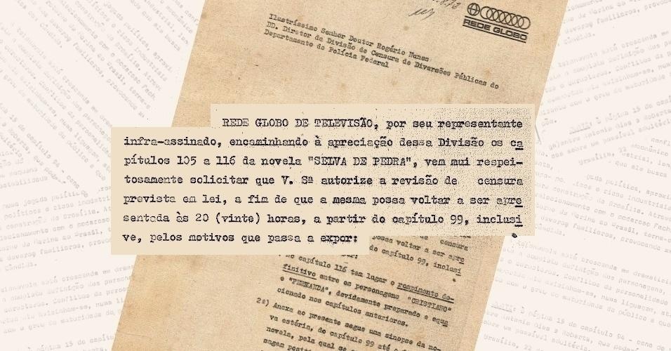 """Globo apresenta à censura os novos capítulos de """"Selva de Pedra"""" (1972) e pede sua recondução ao horário das 20h"""