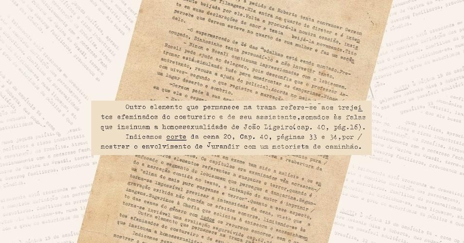 """Novamente a censura pede cortes das cenas que insinuam a homossexualidade do personagem João Ligeiro (Maurício Mattar), de """"Roque Santeiro"""" (1985)"""