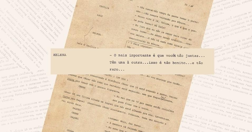 """Censura exige corte de diálogo em que Heleninha (Renata Sorrah), de """"Vale Tudo"""", fala com naturalidade da relação amorosa entre Laís (Cristina Prochaska) e Cecília (Lala Deheinzelin)"""